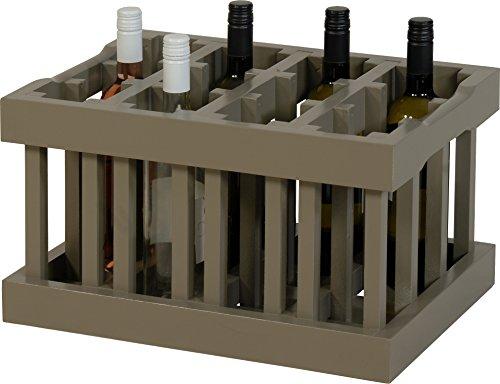 Caisse à Vin/étagère Module de Construction pour 12 bouteilles dans la couleur antique gris