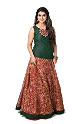 Maybell Emerald Green Embroidery Skirt Set