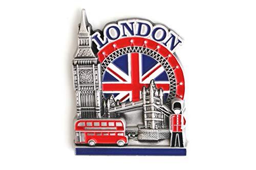 Imán de Nevera de Metal de diseño Exclusivo Londres Reino Unido