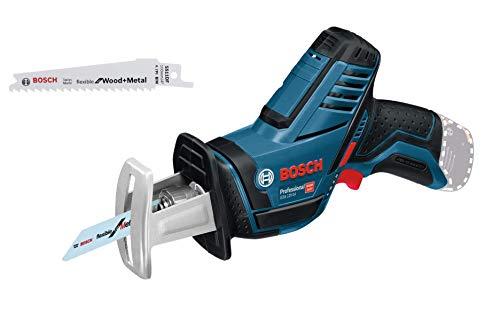 Bosch Professional 12V System Akku-Säbelsäge GSA 12V-14 (Schnitttiefe Holz/Metallprofile: 65/50 mm, 2 Sägeblätter, ohne Akkus und Ladegerät, im Karton)