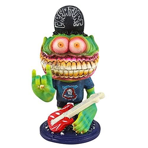 Adorno de resina de monstruo de Halloween enojado Big Mouth Monster Estatua decoración
