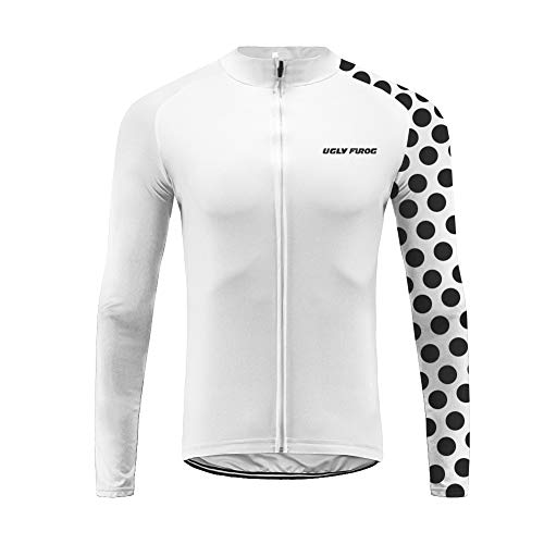 Uglyfrog Conjunto Ciclismo Hombre Largo Traje Invierno Ropa Bicicleta Equipos Profesionales/20D Gel Pad Bib Pantalones