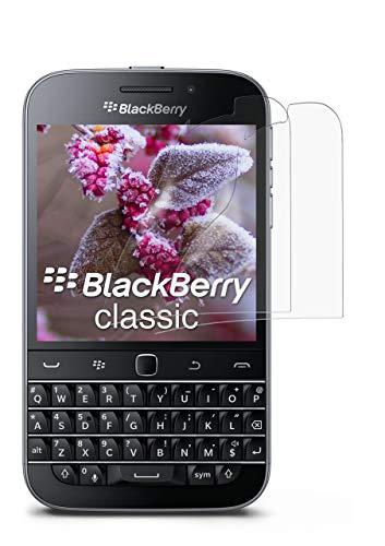moex Anti Reflex Bildschirmschutzfolie kompatibel mit BlackBerry Classic | Schutzfolie Matt Bildschirm Folie gegen Reflexionen, flexibel, 2X Stück