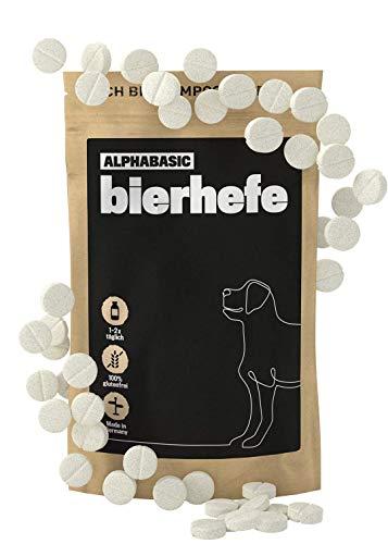 alphazoo bierhefe Hunde 50 Tabletten | Naturprodukt für glänzendes Fell und Vitale Haut | reich an Mineralien & B-Vitaminen (Biotin)