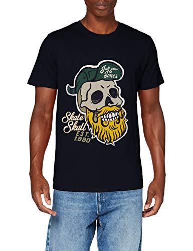 Jack & Jones JORSKULLING tee SS Crew Neck STS Camiseta, Navy Blazer, XL para Hombre