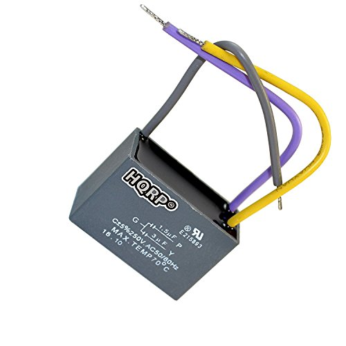 HQRP Capacitor compatible with Hampton Bay Ceiling Fan 1.5uf+3uf 3-Wire UL Listed plus HQRP Coaster