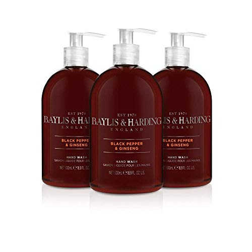 (3 Pack) Baylis & Harding Black Pepper & Ginseng Handwäsche (3 x 500 ml)