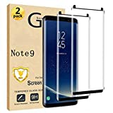 Galaxy Note 9 Screen Protector [2 Pack] Case Friendly, Easy installation, Bubble Free, 3D Curved,HD Clear, 9H Tempered Glass Screen Protector Compatible Samsung Galaxy Note 9