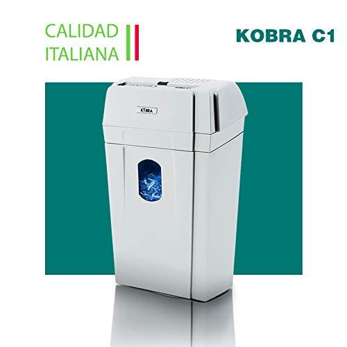 KOBRA C1 99.320 Distruggidocumenti professionale per uso personale o piccoli uffici, 34x20x50cm, Grigio