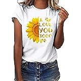 Camiseta de Mujer Manga Corta I Love You 3000 Tallas Grandes Casual Tank Impresión Tops 2019 Nuevo T Shirt Promociones
