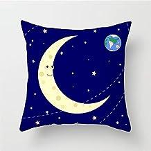 Outer Space Cushion Cover Polyester Spaceship Astronaut Decorative Pillowcase Cosmos Planet Car Sofa Throw Pillow Cases 45...