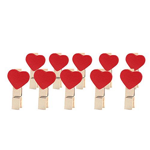 Lumanuby 50Pcs Clips Photo en bois Mini Pince a Linge V/êtir Papier Photo Craft Papier Photo Craft DIY clip pour d/écor 3.5cm Rouge