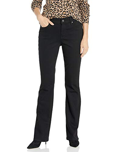 Gloria Vanderbilt Women's Comfort Curvy Boot Cut Jean, Black Rinse, 14