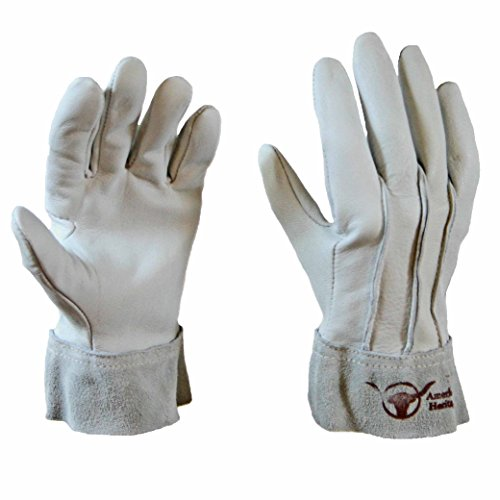 Perfect Gardener Goatskin Gardening Gloves (10) Silver