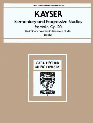 L115 - Elementary and Progressive Studies for Violin, Op. 20 (VIOLON)