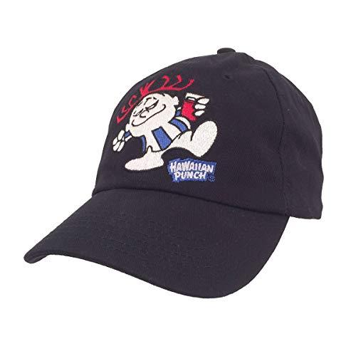 Tee Luv Hawaiian Punch Hat - Retro Punchy Mascot Baseball Cap (Navy)