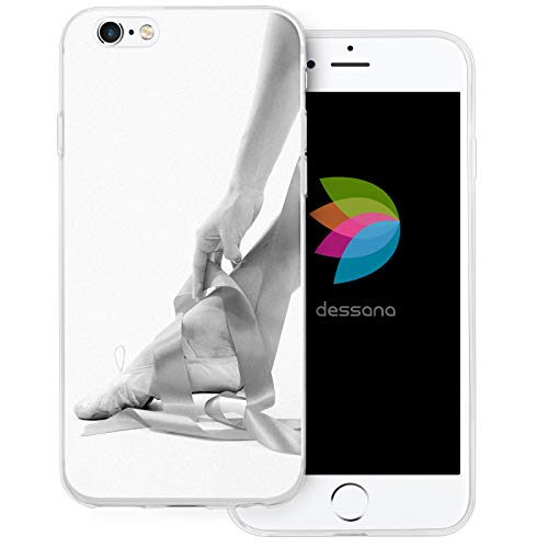dessana Ballet transparante beschermhoes mobiele telefoon case cover tas voor Apple, Apple iPhone 6/6S Plus, Ballerina Elegant