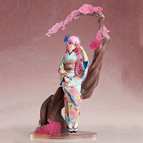 SDFDSSR Hatsune Miku Megurine Luka Liuka Flor Color Ver.Kimono Material de PVC Anime Figura Modelo Toys Boxed Toys Regalos