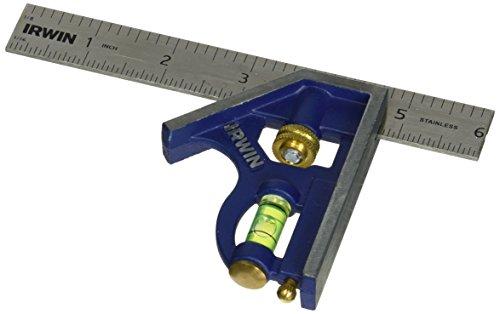 IRWIN Tools Combination Square, Metal-Body, 6-Inch (1794468)