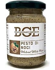 Bulk Gourmet Emporium - Pesto blanco de nueces en frascos de vidrio, 3 x 130 g (390 g en total)