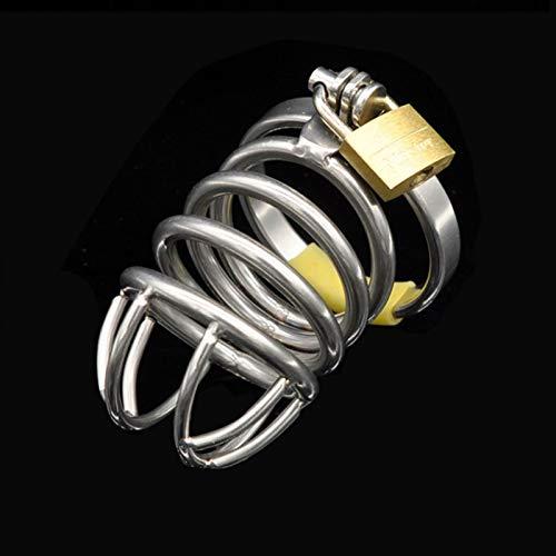 ZZQQ Acero Inoxidable Masculino Chasti'ty Dispositivo ergonómico Diseño Cerradura Invisible for Mejorar Adu'lts Solitario Extreme Cage Sunglasses (Size : 43mm)