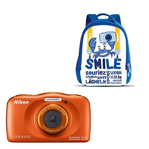 Nikon Coolpix W 150 - Cámara digital compacta de 13.2 MP (pantalla LCD de 3', video full HD, impermeable, estabilizador óptico) naranja
