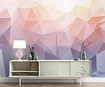 Papel pintado 3D Color morado Bloques Colisión Simplicidad geométrica Mural de pared Efecto 3D para murales de sala papel pintado pared dormitorio de estar sala de estar fondo No tejido-400cm×280cm