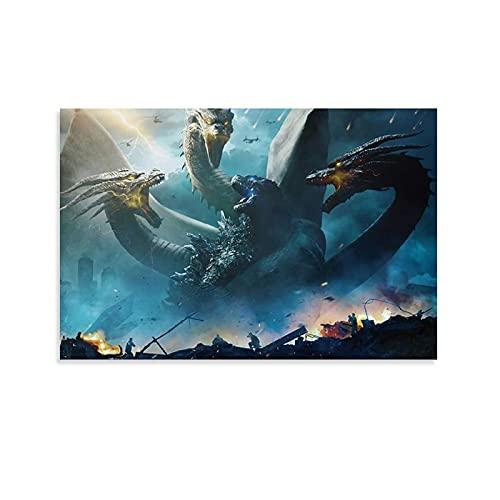 STTYE Godzilla II - Lienzo decorativo para pared (60 x 90 cm)