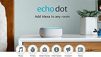 Echo Dot (3rd Gen) – Smart speaker with Alexa - Sandstone Fabric