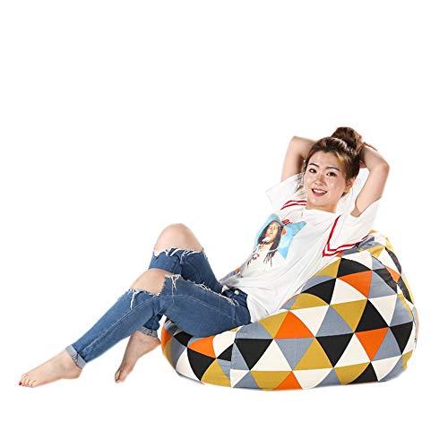ZYLE Bean Bag Lazy Couch Tatami Dormitorio Sala de Estar Oficina Único sofá de Tela Banco Grueso 100 × 100cm