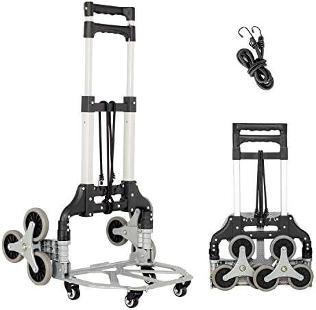Fullwatt Stair Climber Cart 15 Inch Height Adjustable Aluminum Portable Folding Stair Climbing product image