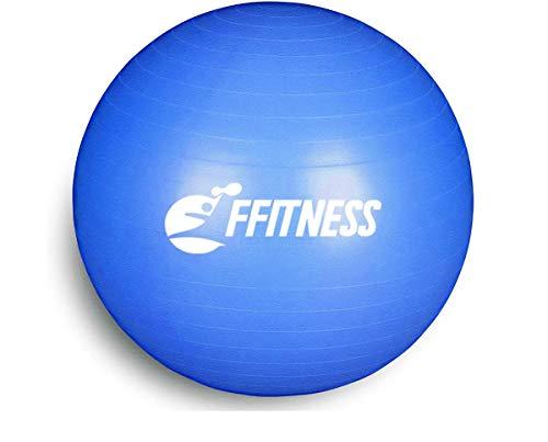 FFitness Total Body Balance Ball para gimnasia prenatal | Big Gymball antiestallidos para Core Stability | Ejercicios abdominales, resistencia, potenciación (azul, 95 cm)