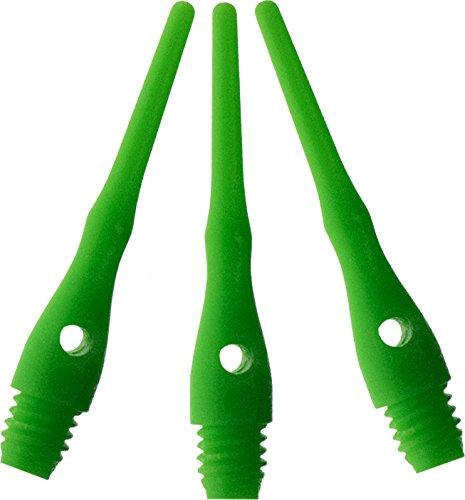 Viper Dart Zubehör: Tufflex III 2BA Gewinde Soft Tip Dartspitzen, Neon Grün, 100 Stück
