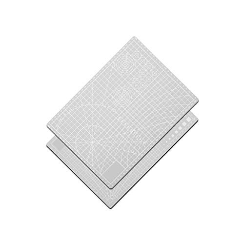 litulituhallo Alfombrilla de corte de costura de doble cara para manualidades, para mesa, color gris