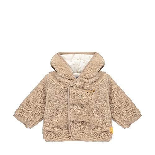 Steiff Baby-Jungen mit süßer Teddybärapplikation Fleecejacke, Oxford TAN, 068