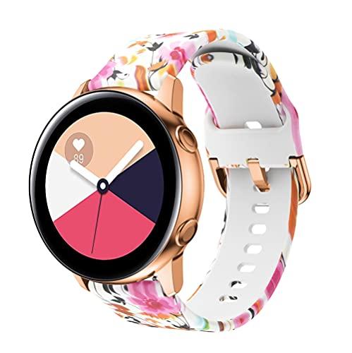 Classicase Correa de Reloj Compatible con Huawei Watch GT 2 (46mm) / Watch GT 2e / Watch GT/Watch 3 / Watch 3 Pro, Blando Silicona Narrow Delgada Deporte Reemplazo Pulsera (22mm, Pattern 8)