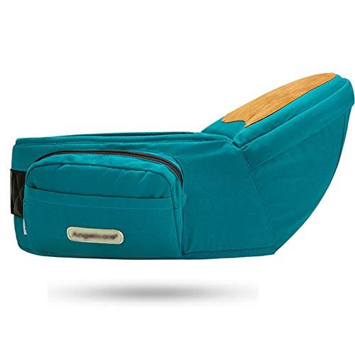 ANGELBB Baby Infant Hip Seat Carrier with Pockets Lightweight Toddler Waist Stool Seat Belt Carrier (Green)