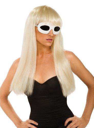 Halloween FX Lady Gaga Straight Wig with Bangs