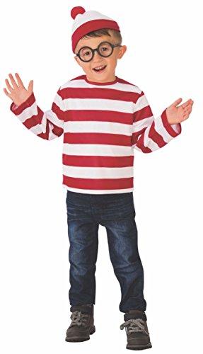 Rubie's unisex child Where's Waldo Costume, As Shown, Medium US