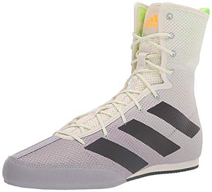 adidas Zapato de boxeo unisex para adulto Hog 3, (Blanco/Gris/Verde señal), 34 EU