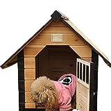 Refuge pour Animaux Pet Dog House Cat House Niche Usage extérieur Usage intérieur Pet Abri for Les Chiots et Les Chiens Château Chat (Couleur : Natural, Taille : 88x77x81cm)