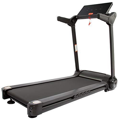 HIRAM Klappbar Laufband Elektrisches Fitnessgerät Heimtrainer bis14,8 km/h Speedrunner mit APP Steuerung 12 Programme bis 120kg (Schwarz)