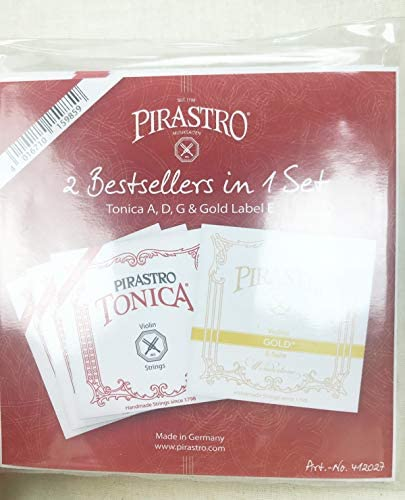 Tonica Violin Strings Set with Gold Label E Strings Ball E 4 4 Size product image
