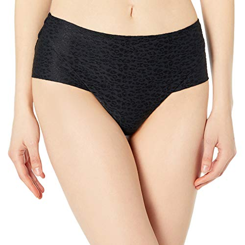 Body Glove Damen Coco High Waisted Bikini Bottom Swimsuit Bikinihose, Panther Print, X-Large