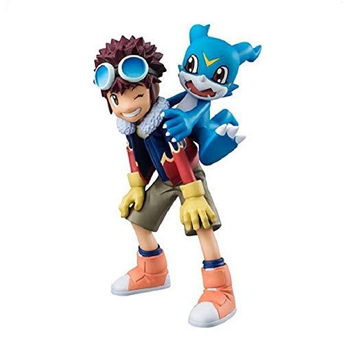 Qwead Figura De Acción De Digimon Adventure 2 11Cm, Anime Daisuke Motomiya & V-Mon Colección Modelo Figura Juguetes Versión Linda Muñeca Regalo para Niños