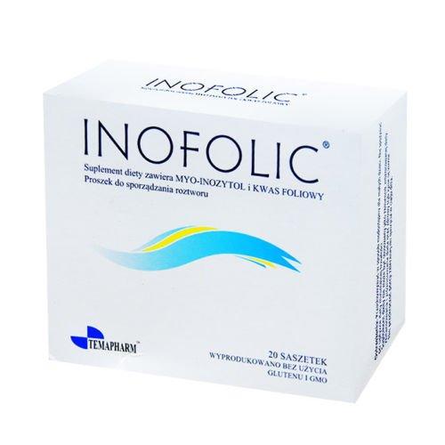 Inofolic, 60bustine per il trattamento della sindrome dell'ovaio policistico, inositolo e acido folico; ovulazione