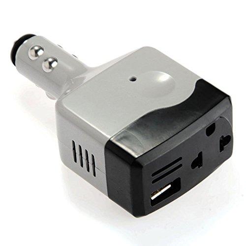 Fltaheroo USB Adaptador Cargador Conversor Coche para Movil Mechero DC12V/24V a 220V