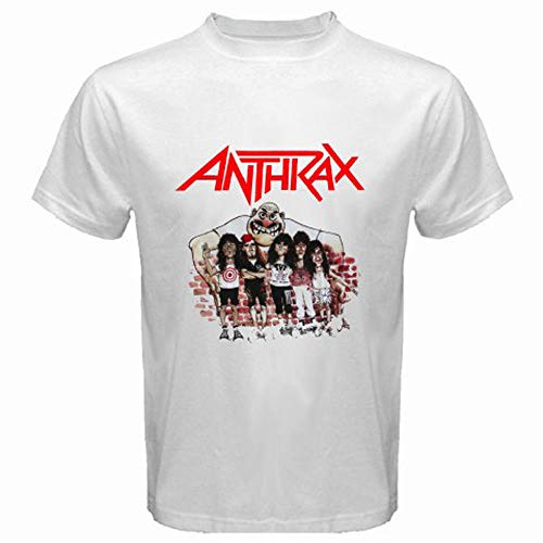 New Anthrax Personels Cartoon Metal Rock Band Mens White Tshirt Size S to 3XL