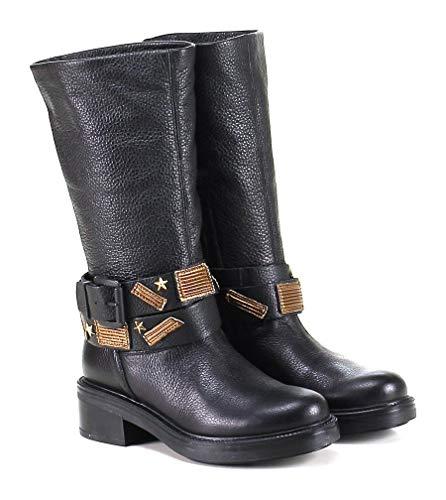 Tosca Blu Shoes, Damen Schnürhalbschuhe Schwarz Schwarz 35 EU, Schwarz - Schwarz - Größe: 38 EU