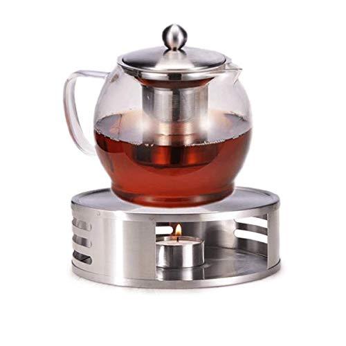 Gravidus Teekanne Glas mit Stövchen und Siebeinsatz - 1,2 Liter - Tee Set - Teewärmer & Teebereiter